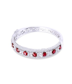 Red Regalia Diamond Bangle