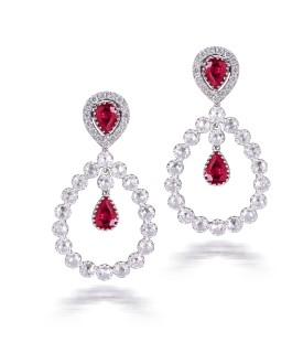 Rouge Teardrop Earrings