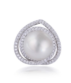 Blanc Oval White Pearl Ring