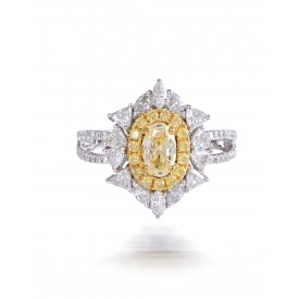 Yellow Nest Diamond Ring